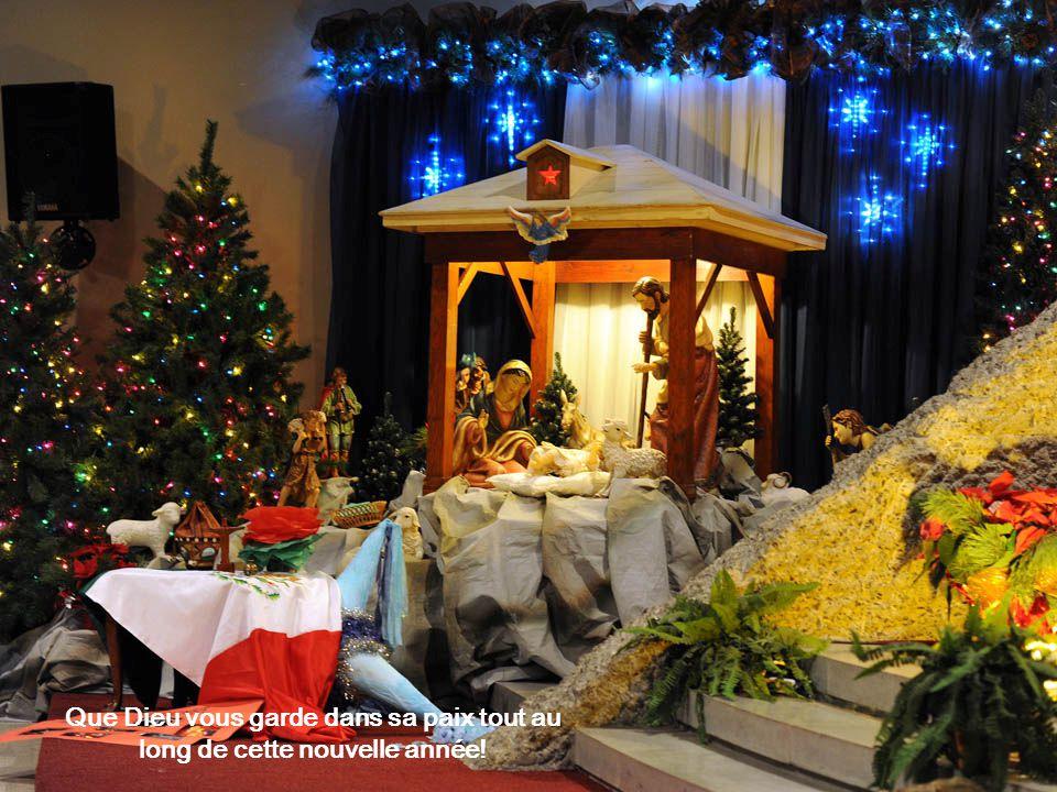 Que Dieu vous garde dans sa paix tout au long de cette nouvelle année!