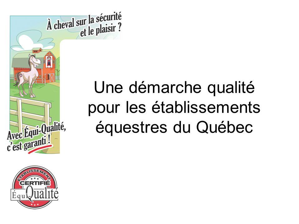 Une démarche qualité pour les établissements équestres du Québec