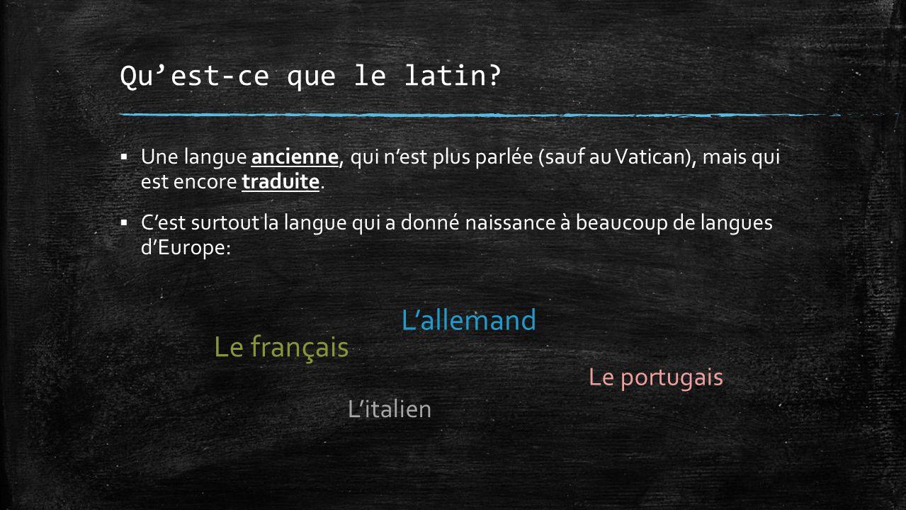 Qu'est-ce que le latin.