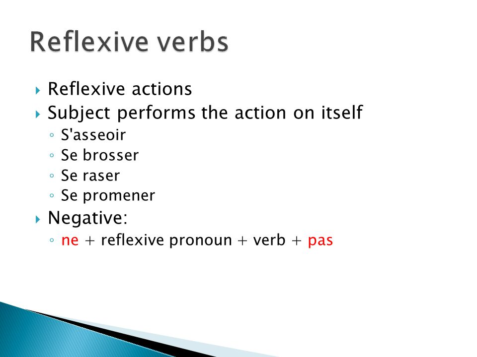  Take the reflexive pronoun but are not reflexive actions  It s just the way it is.