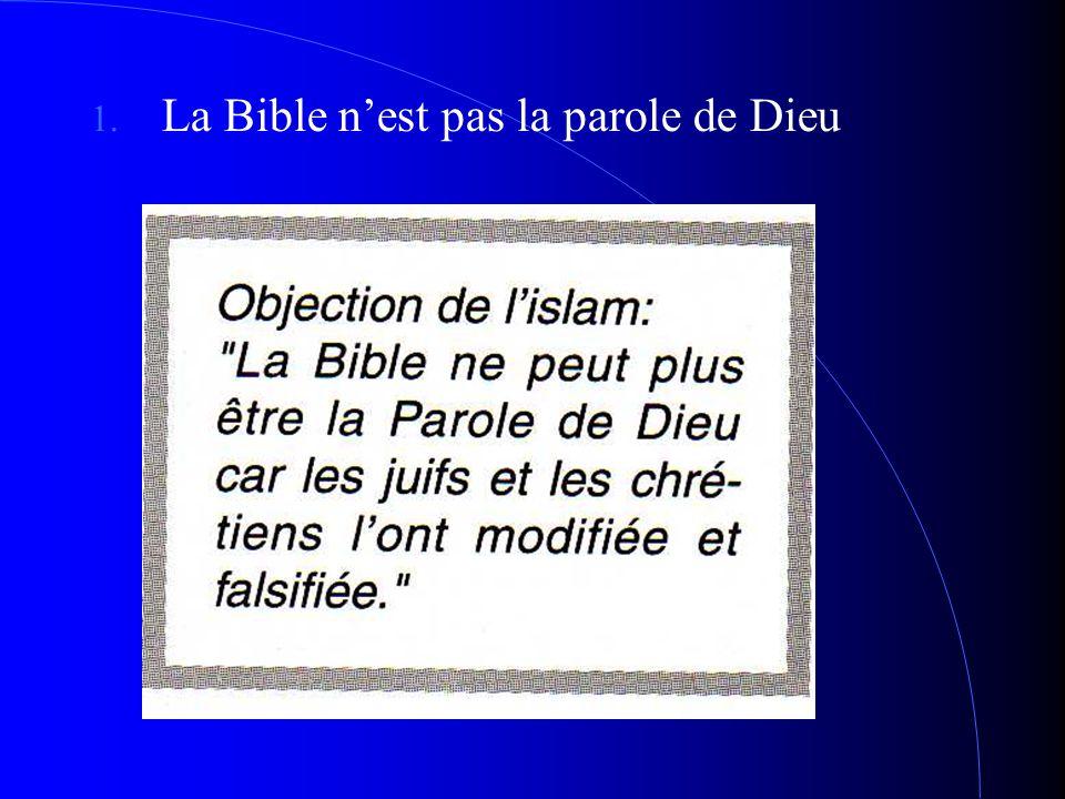 a Bible n'est pas la parole de Dieu