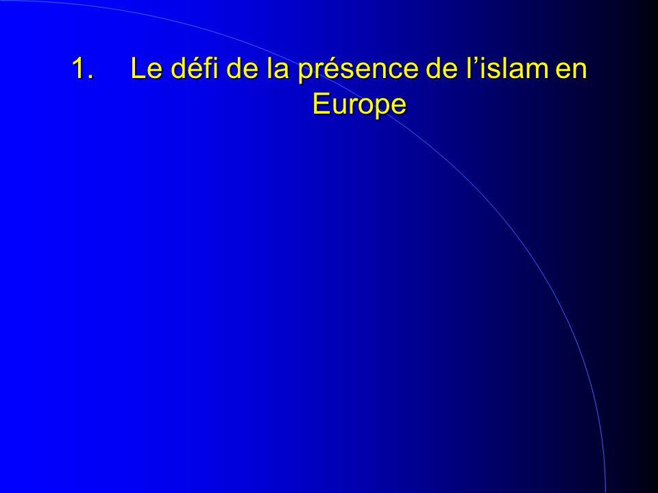 1.Le défi de la présence de l'islam en Europe
