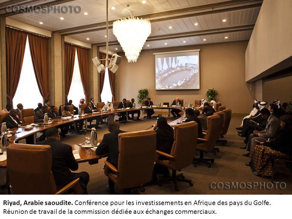 Riyad, Arabie saoudite.Conférence pour les investissements en Afrique des pays du Golfe.