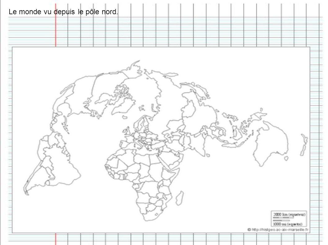 Le monde vu depuis le pôle nord.