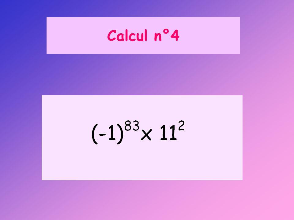 Calcul n°4 A