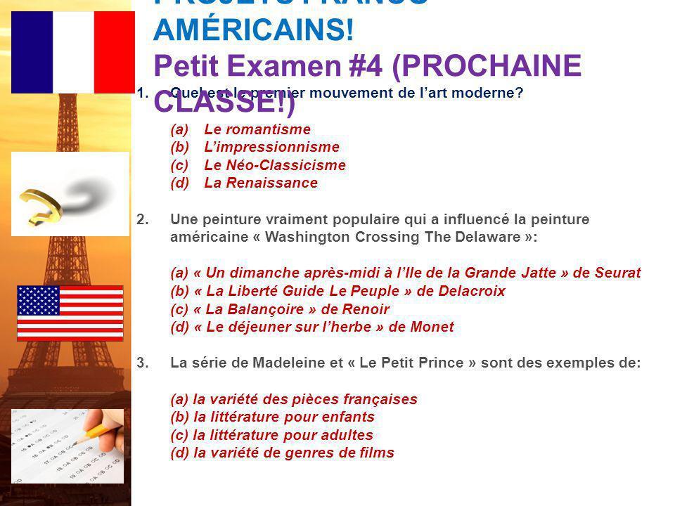 français 5H le 8-9 février 2012 ActivitéClasseur ÉCOUTONS/CHANTONS !: Des ricochets / Ça ira, mon amour ! Activité/Devoirs L'entrée ! PROJET FRANCO-AM