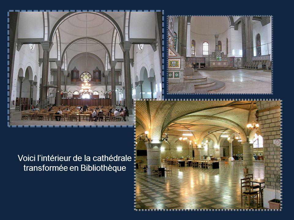 Cathédrale du Sacré-Cœur. Style romano byzantin, édifiée de 1904 à 1913 A présent Bibliothèque