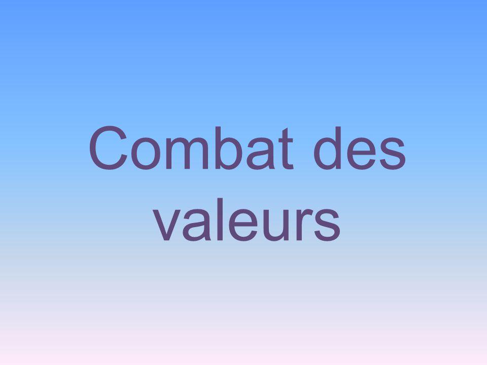 Combat des valeurs