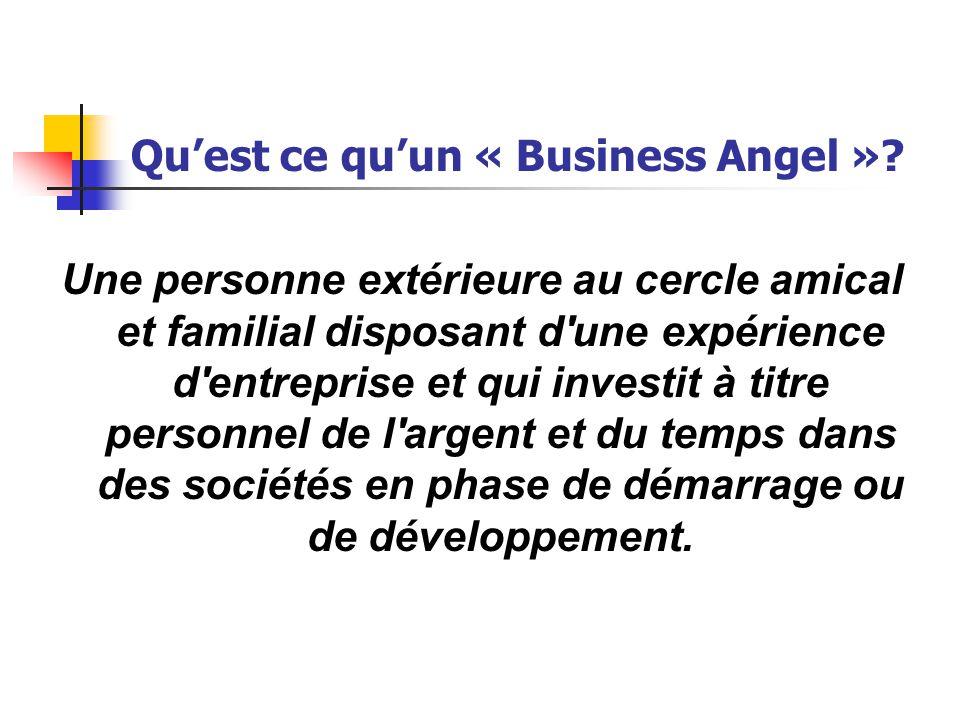 Qu'est ce qu'un « Business Angel ».