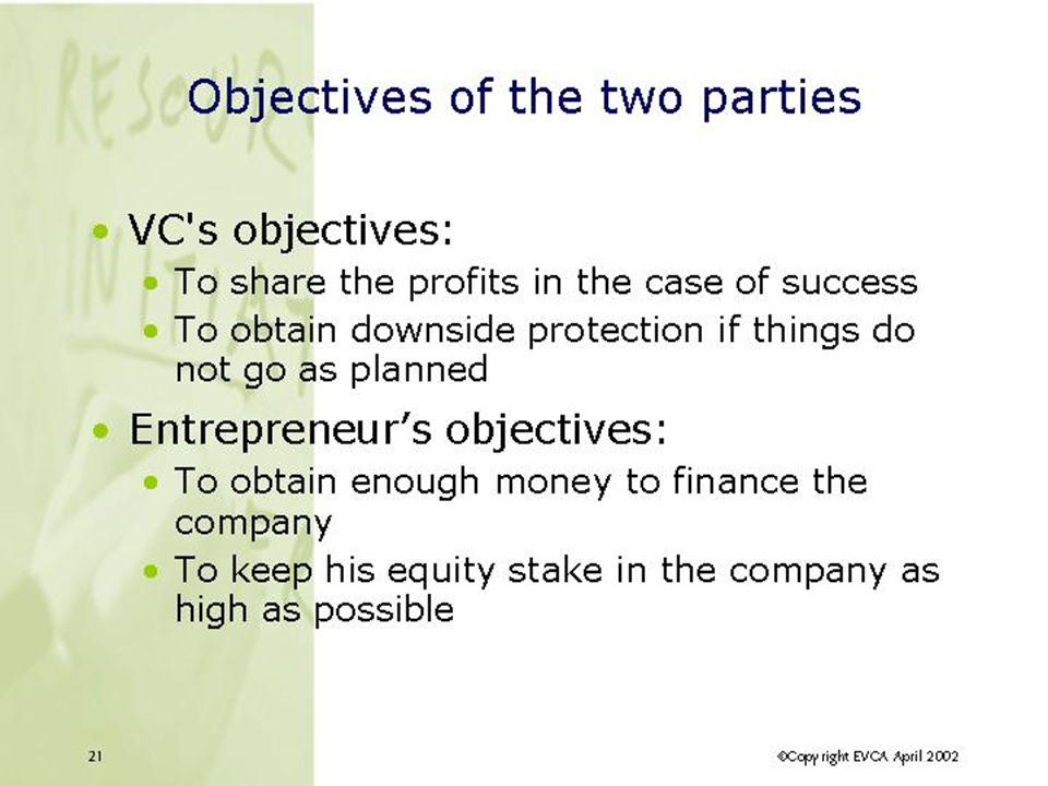 Grande variété de VCs funds Publics vs.Privés Côtés vs.
