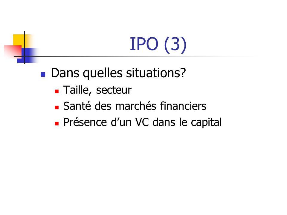 IPO (3) Dans quelles situations.