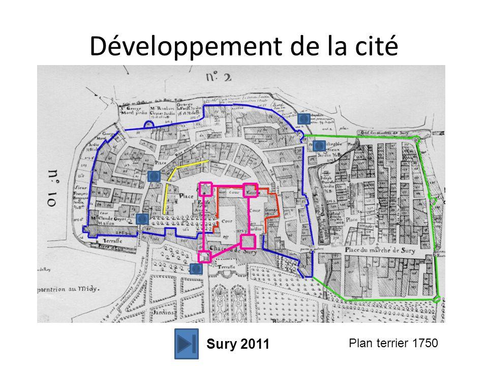 Développement de la cité Plan terrier 1750 Sury 2011