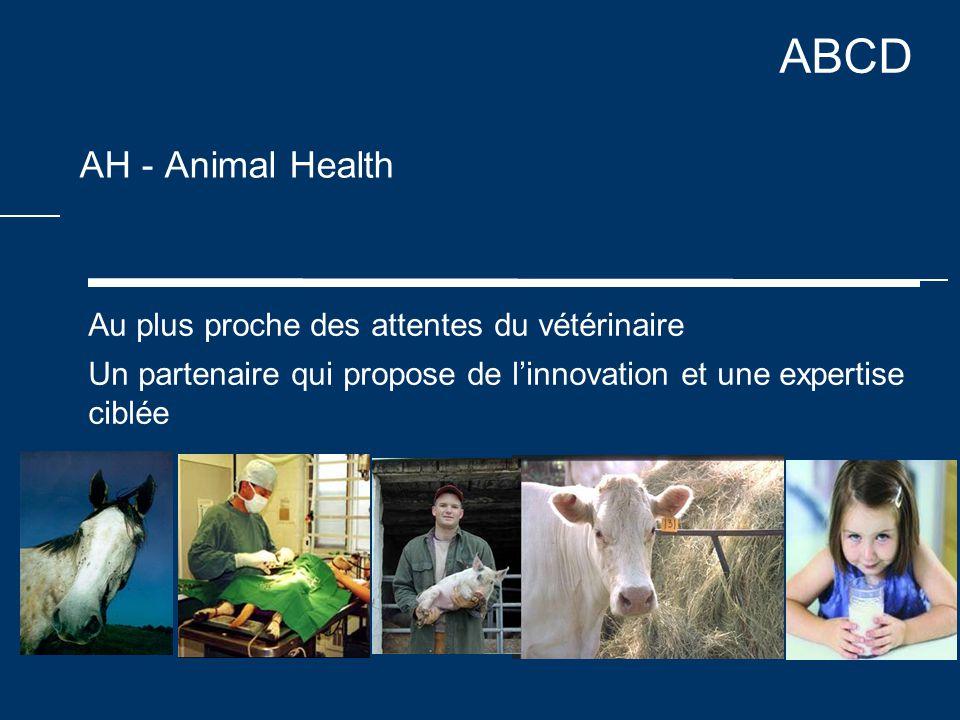 ABCD AH - Animal Health Au plus proche des attentes du vétérinaire Un partenaire qui propose de l'innovation et une expertise ciblée