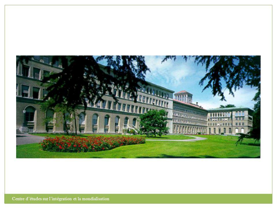 Centre d'études sur l'intégration et la mondialisation Partie IV.