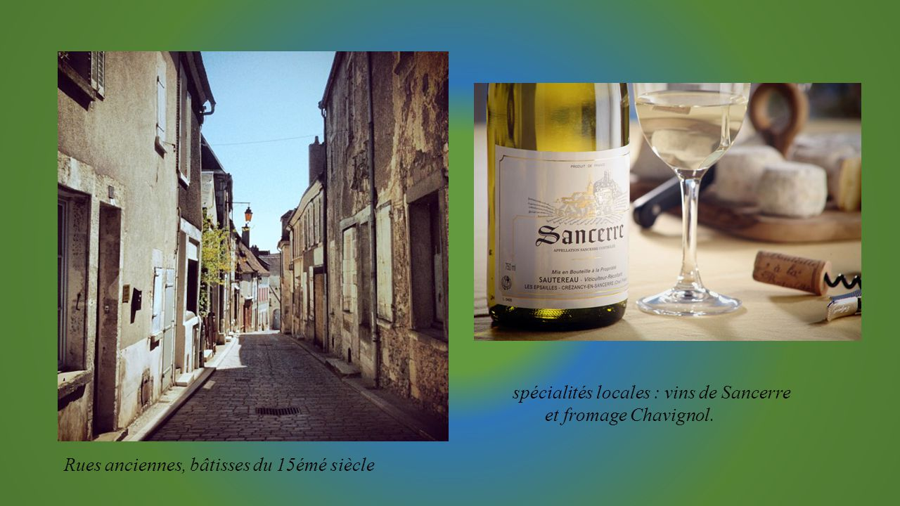 Maison du Sancerre salle d'expositions sur le vignoble (scénographie) et jardin des senteurs. Le Piton (Moulin)