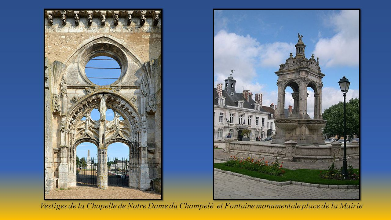 Pont du 12éme siècle sur le Loiret et Eglise Saint Etienne (art roman) transformée en espace Culturel.