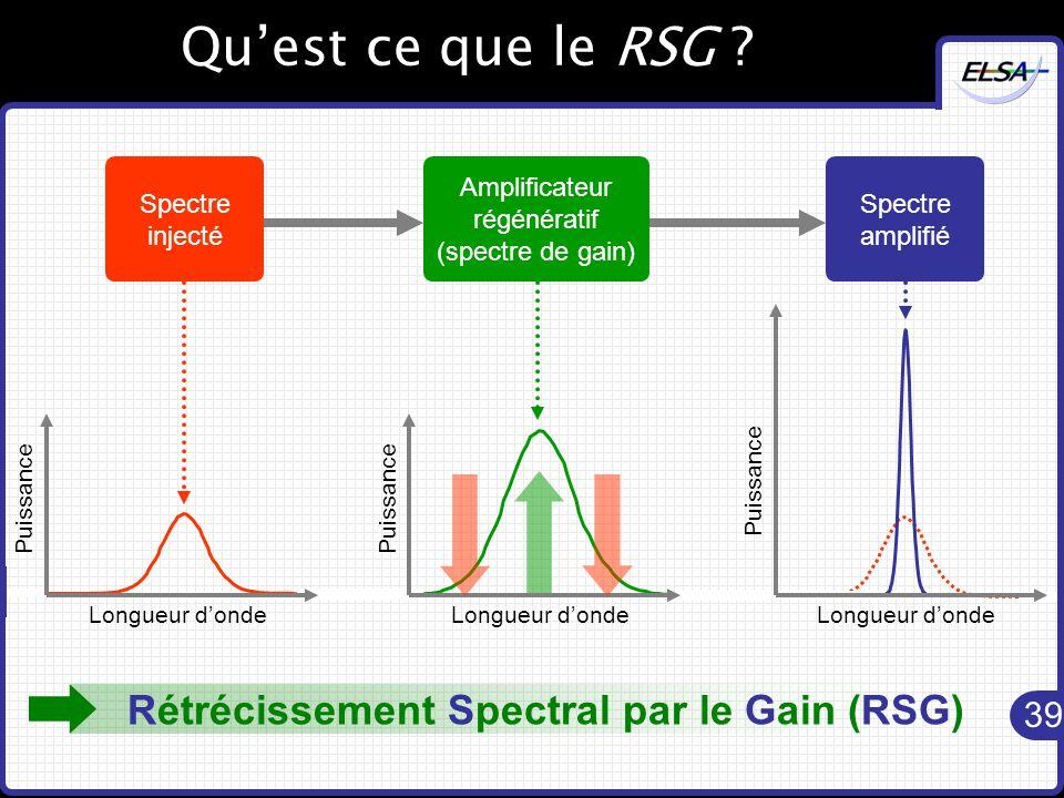 39 Qu'est ce que le RSG .