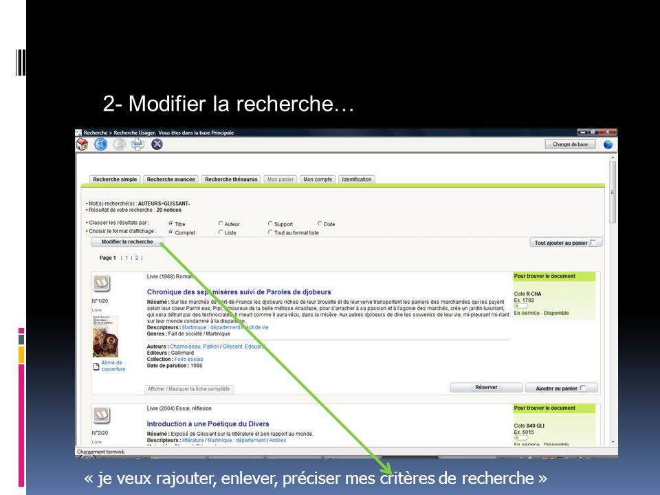 Vous notez les références du document qui vous intéresse : …son emplacement, sa situation (disponible, sorti…) Et vous pouvez consulter ou emprunter le document.