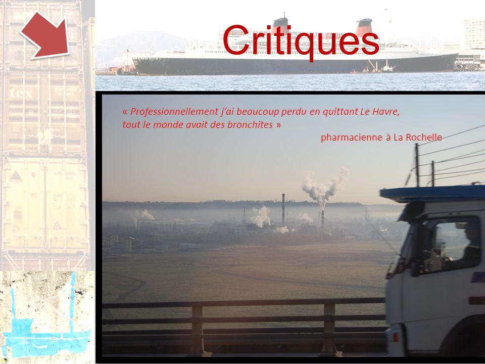 Critiques « Professionnellement j'ai beaucoup perdu en quittant Le Havre, tout le monde avait des bronchites » pharmacienne à La Rochelle