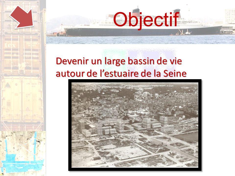 Objectif Devenir un large bassin de vie autour de l'estuaire de la Seine