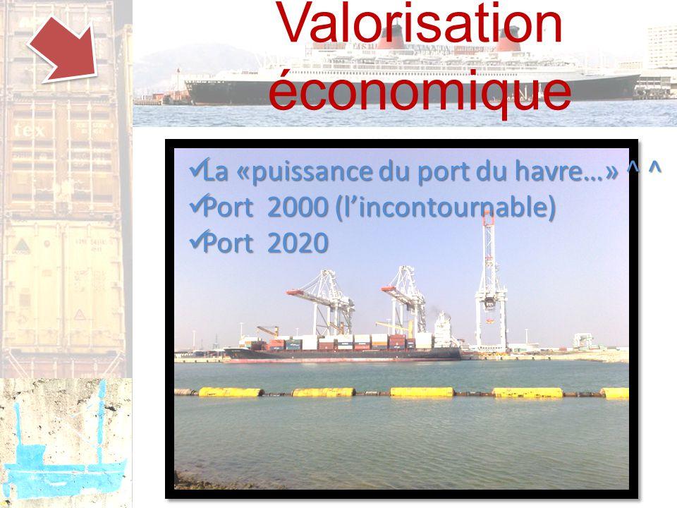 Valorisation économique La «puissance du port du havre…» ^ ^ La «puissance du port du havre…» ^ ^ Port 2000 (l'incontournable) Port 2000 (l'incontournable) Port 2020 Port 2020