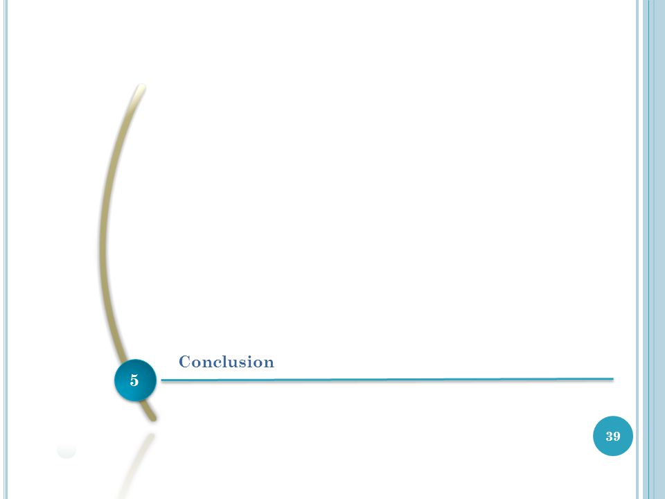 5 5 Conclusion 39