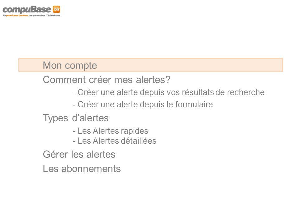 Pour accéder au service d'alerte stock vous devez être identifié Identifiez vous à partir de la boite de dialogue « Mon compte »