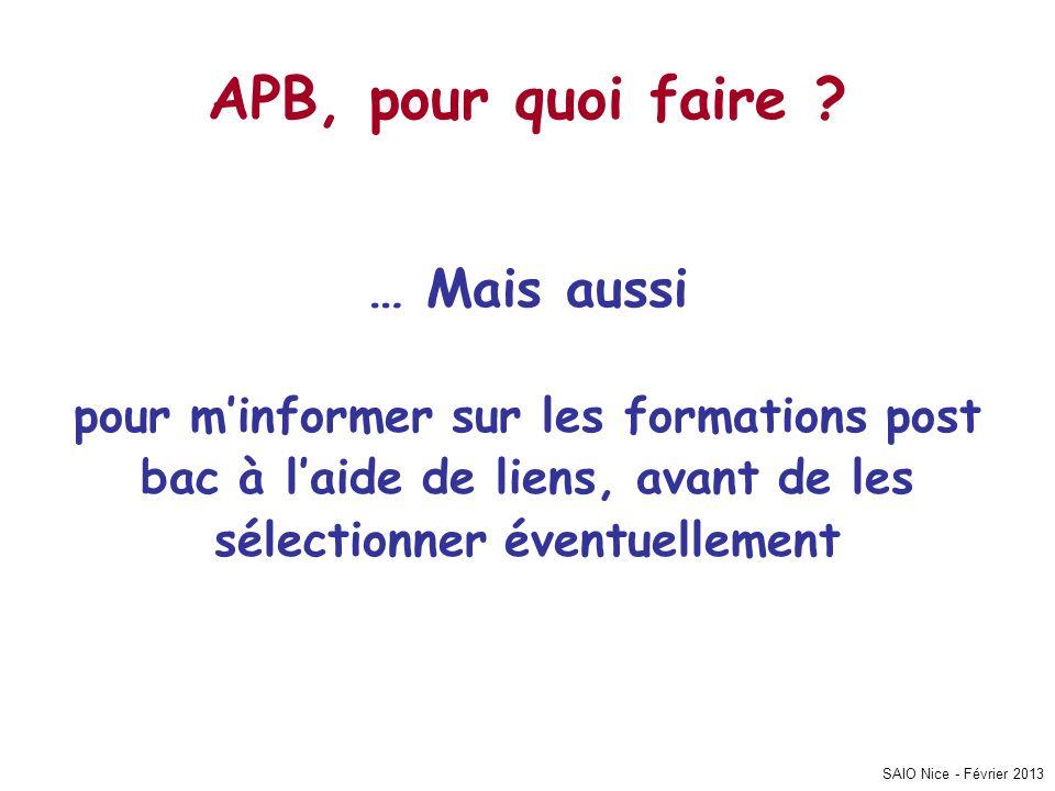 SAIO Nice - Février 2013 Contact…