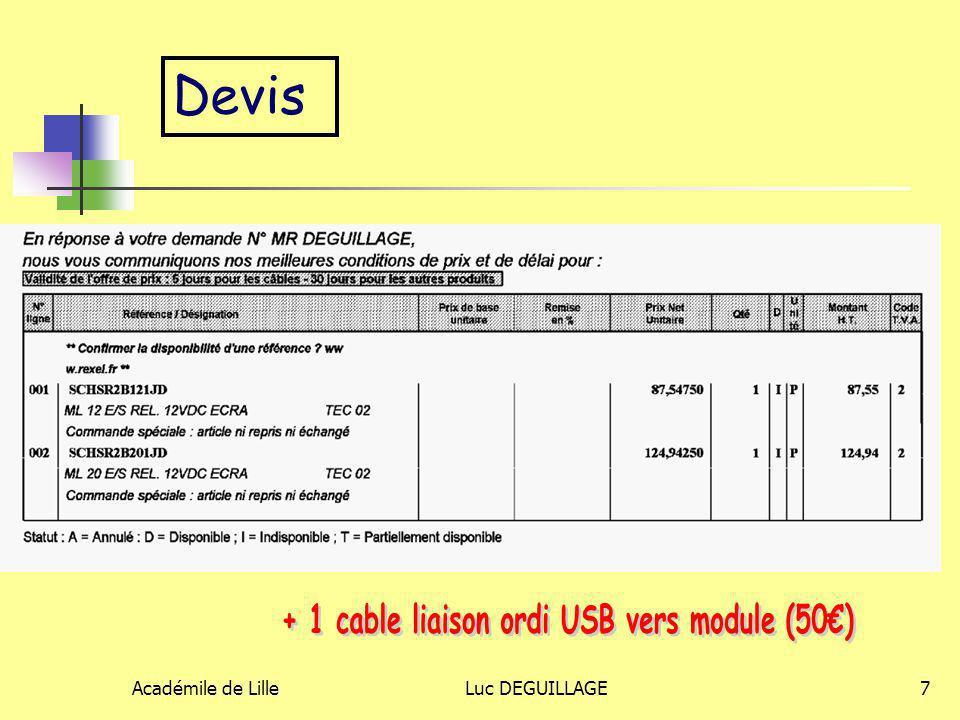 Académile de LilleLuc DEGUILLAGE7 Devis