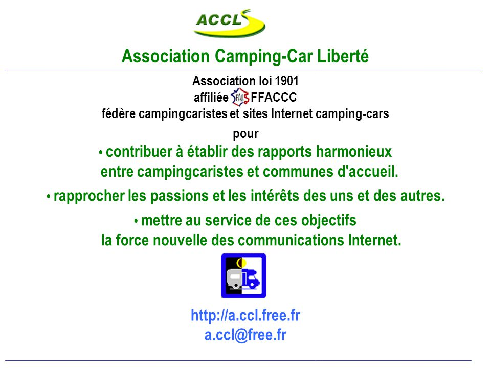 promouvoir les réalisations… Revues spécialisées : Le Monde du Camping-Car, Camping-Car Magazine CDT, OT, communes : plaquettes, guides, sites… Guides Officiels : étapes Camping-Cars en France et en Europe ____________________________________________________________________________________________________________________________________________________________________________________________ Internet : de nombreux sites dédiés au camping-car, des forums de discussions et d'échanges d'expériences.