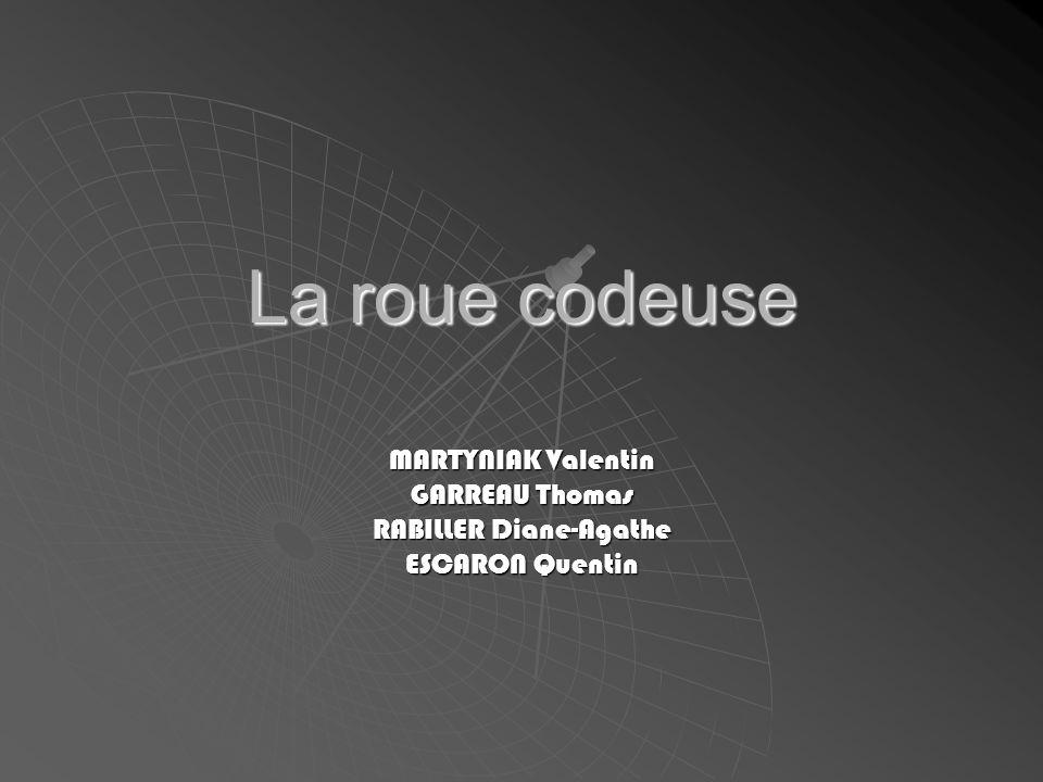 La roue codeuse MARTYNIAK Valentin GARREAU Thomas RABILLER Diane-Agathe ESCARON Quentin