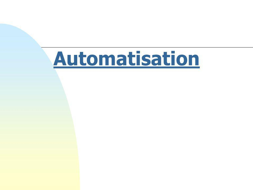 2 Plan du premier cours  Présentation du plan de cours Présentation du plan de cours  Buts de l automatisation  Structure d un automatisme  Spécifications d un automatisme  Les technologies d'un automatisme Les technologies d'un automatisme Plan du cours Buts Structure Spécifications Technologies