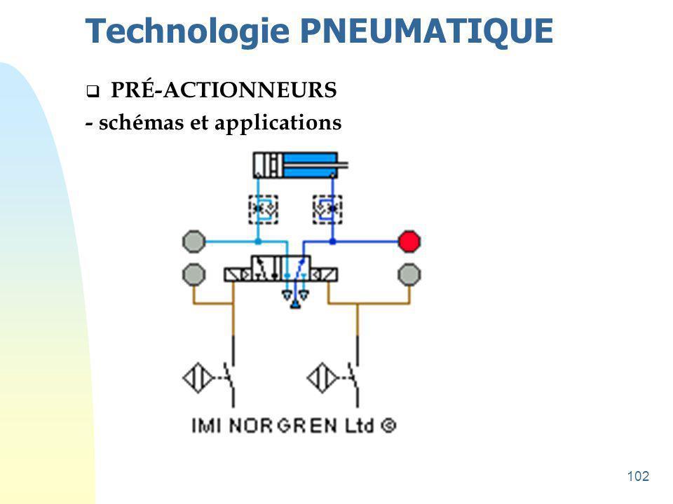 103 Technologie PNEUMATIQUE  PRÉ-ACTIONNEURS - schémas et applications