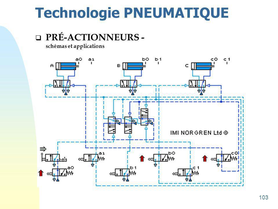104 Technologie PNEUMATIQUE  PRÉ-ACTIONNEURS - schémas et applications