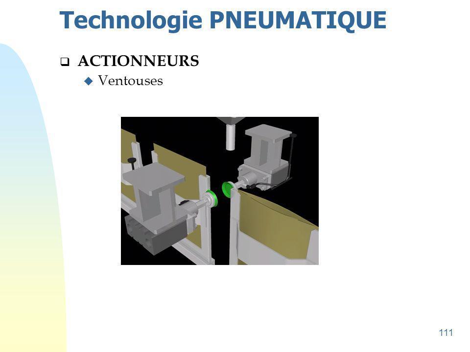 112 Technologie PNEUMATIQUE  ACTIONNEURS u Ventouses