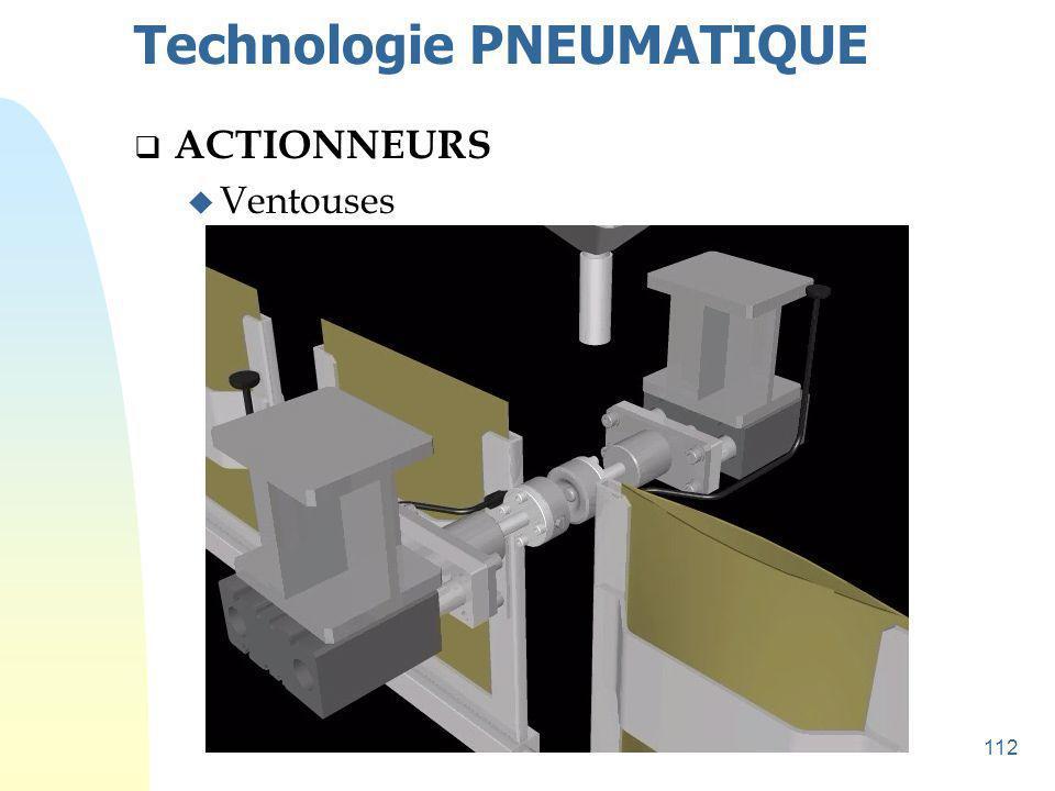 113 Technologie PNEUMATIQUE  ACTIONNEURS u Ventouses
