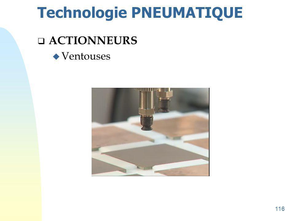 117 Technologie PNEUMATIQUE  ACTIONNEURS u Ventouses