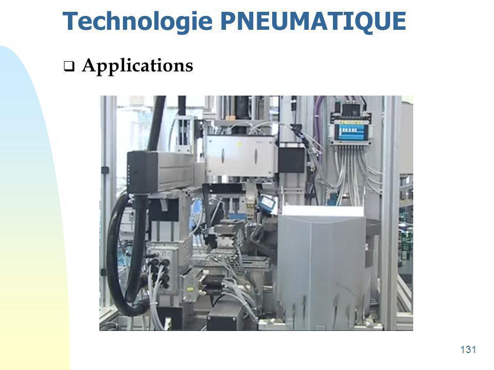 132 Technologie PNEUMATIQUE  Applications