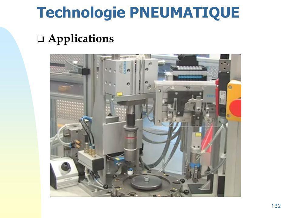 133 Technologie PNEUMATIQUE  Applications