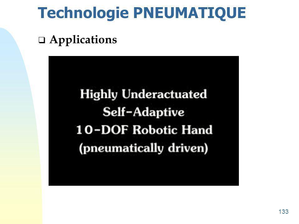 134 Technologie PNEUMATIQUE  Applications