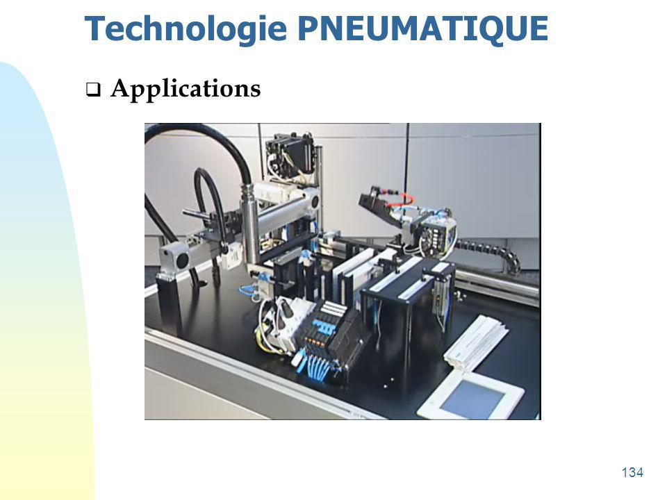 135 Technologie PNEUMATIQUE  Applications