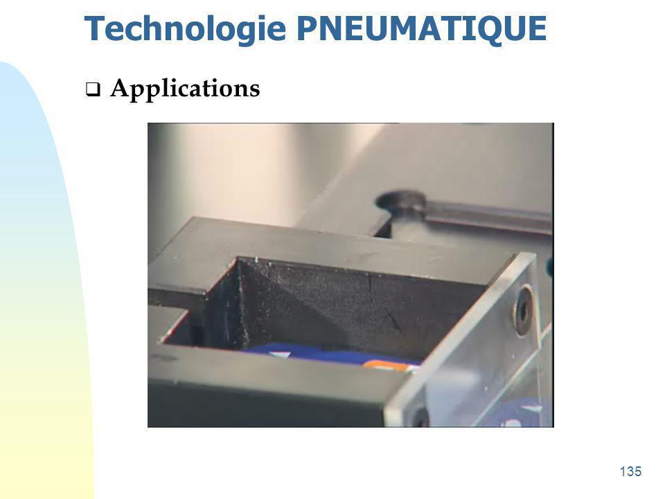 136 Technologie PNEUMATIQUE  Applications