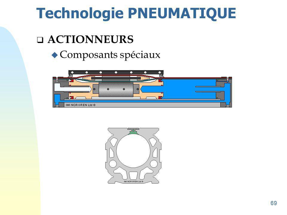 70 Technologie PNEUMATIQUE  ACTIONNEURS u Composants spéciaux