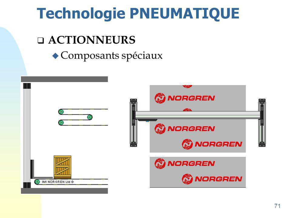 72 Technologie PNEUMATIQUE  ACTIONNEURS u Composants spéciaux u Applications