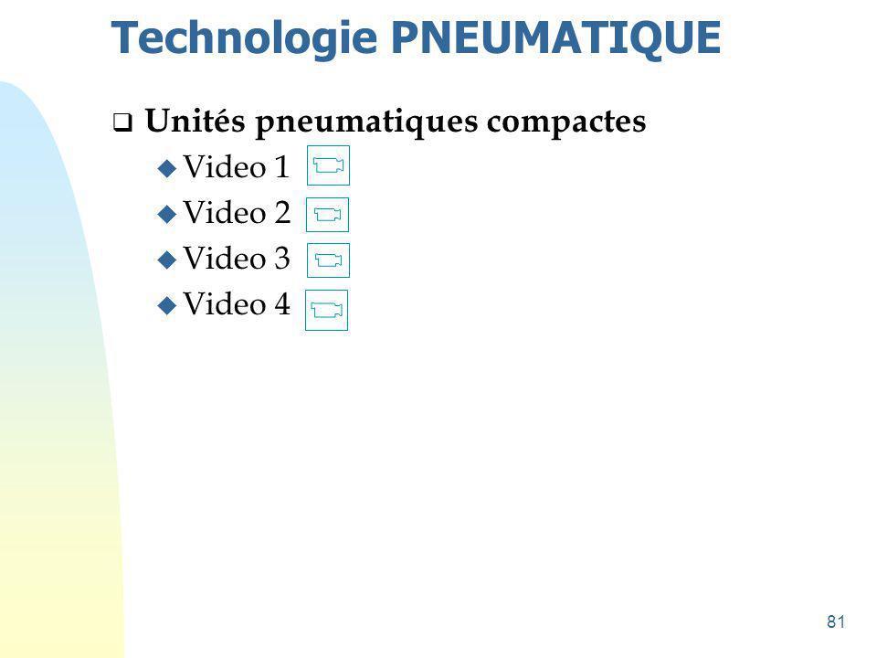 82 Technologie PNEUMATIQUE  ACTIONNEURS u Détection intégrée
