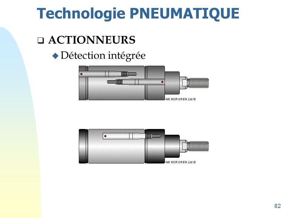 83 Technologie PNEUMATIQUE  PRÉ-ACTIONNEURS u Distributeur : Organe d aiguillage de l air comprimé.