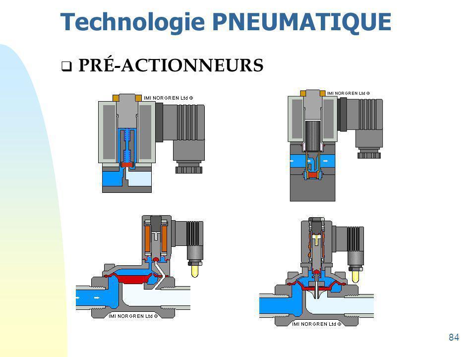 85 Technologie PNEUMATIQUE  PRÉ-ACTIONNEURS