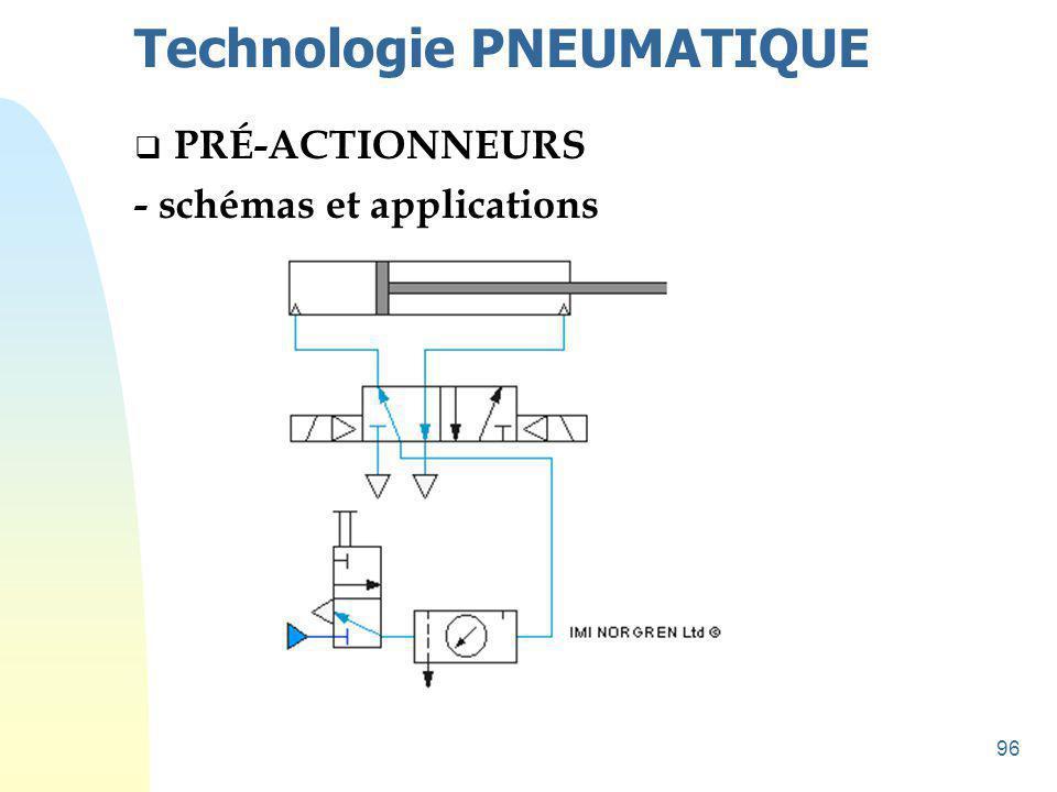 97 Technologie PNEUMATIQUE  PRÉ-ACTIONNEURS - schémas et applications