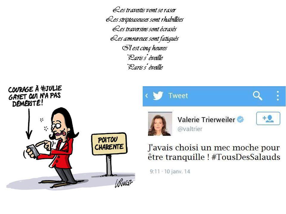 Les travestis vont se raser Les stripteaseuses sont rhabillées Les traversins sont écrasés Les amoureux sont fatigués Il est cinq heures Paris s´éveille