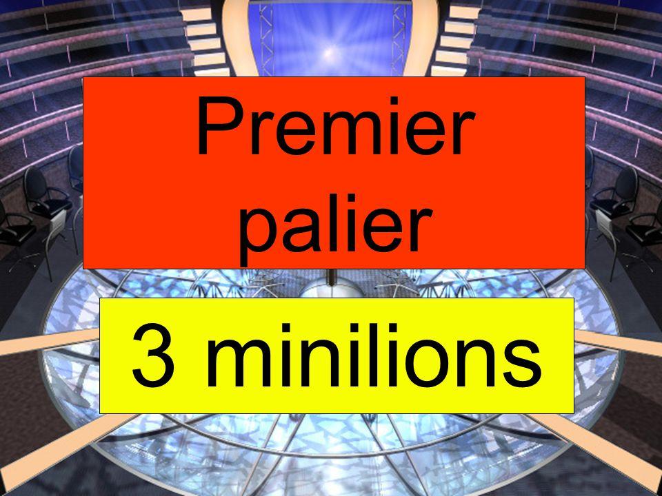 3 minilions Premier palier